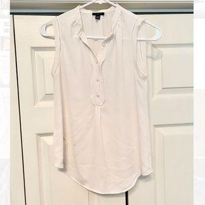 Ann Taylor white blouse sleeveless